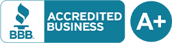 BBB Accredited A+ logo